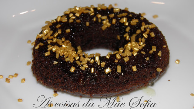 Donuts de alfarroba com cobertura de mel / Carob donuts with honey topping