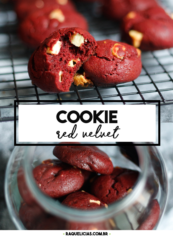Cookie Red Velvet com Chocolate Branco
