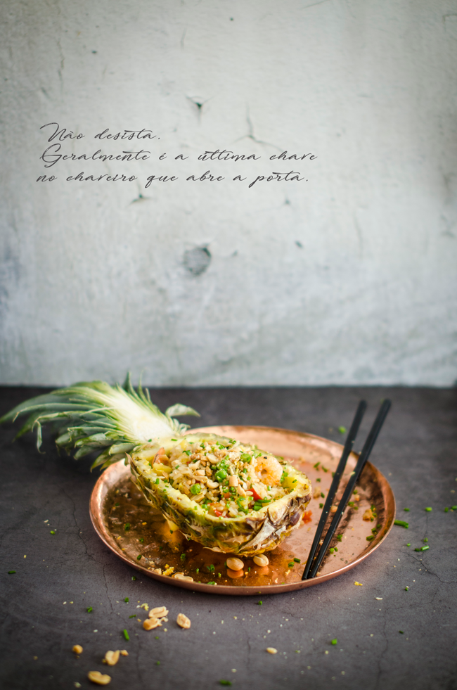 Pineapple fried rice (Arroz frito com ananás)