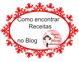 Como encontrar as receitas no blog