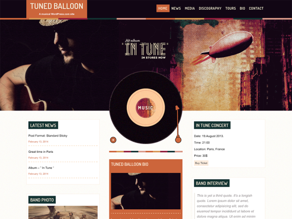 New Themes: Tuned Balloon, Yumblog, Lens, Hexa, Singl, MH Magazine